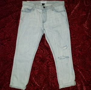 Current Elliott NWT 28 The Cropped Straight Jeans